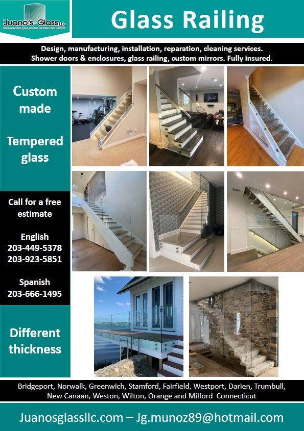 Glass Railing By Juano S Glass Llc Bridgeport Norwalk Greenwich