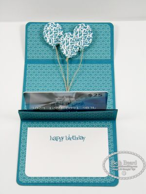 Pop up gift card holder By Beth Beard at My little craft blog