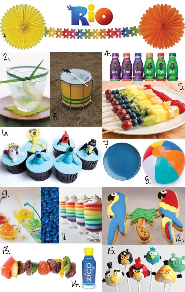 Rio birthday ideas featuring parrot cookies by Ladybug650 on modishly delish blog