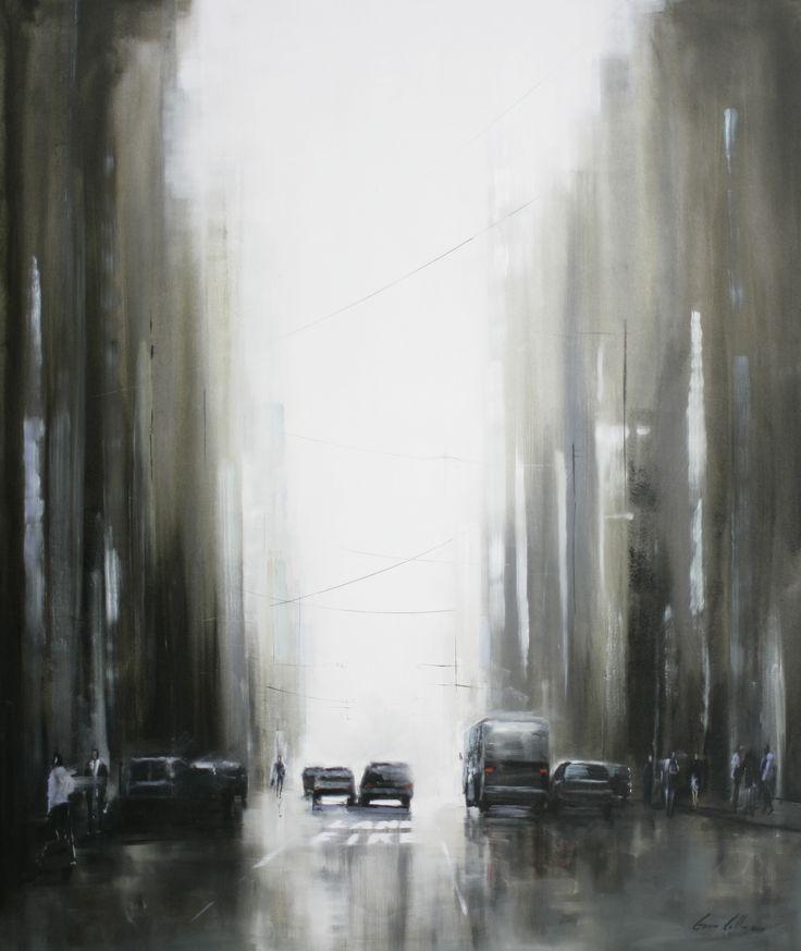 Gavin Collins oil on canvas, New york