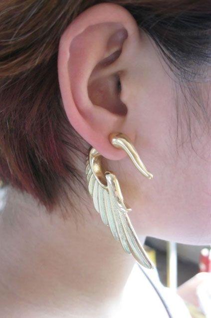Punk Wing Shaped Earrings $11.00
