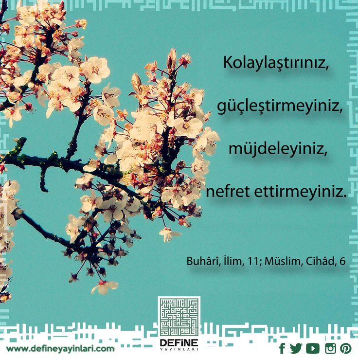 Haftanın hadisi… #define #defineyayinlari #dua #reca #pray #hadis #hadisiserif #müjdeleyiniz #efendimiz