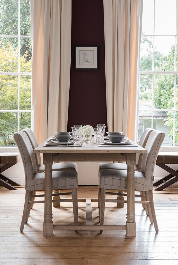 Edinburgh Dining Table And Miller Chairs Diningtable Curtains Neptune