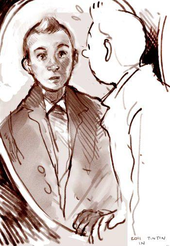 'Tintin Tribute   -  Holy crap I love artists' said previous pinner • Tintin Herge j'aime