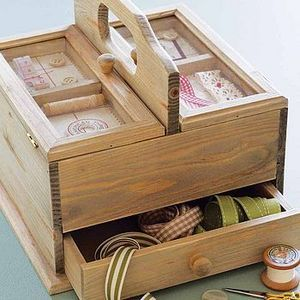 Wooden sewing box - LOVE