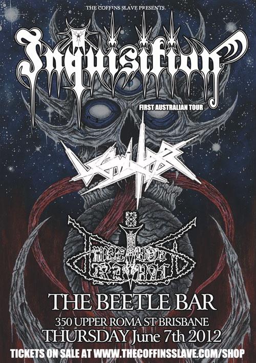 Inquisition gig in Brisbane