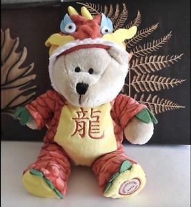 NWT Starbucks ✿*゚ADORABLE 2012 Chinese Luna Year Taiwan Dragon Barista Asia Bear