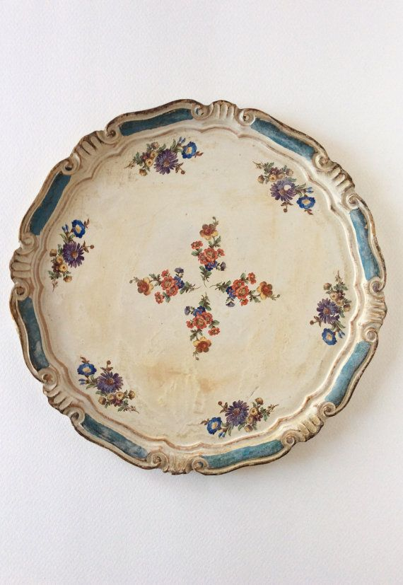Vintage Shabby Chic. Florentine Tray Wooden by SouthofFranceFinds