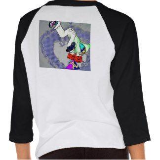 kush urban wear two tone  3\4 sleeve length females t-shirt back desighn v.1