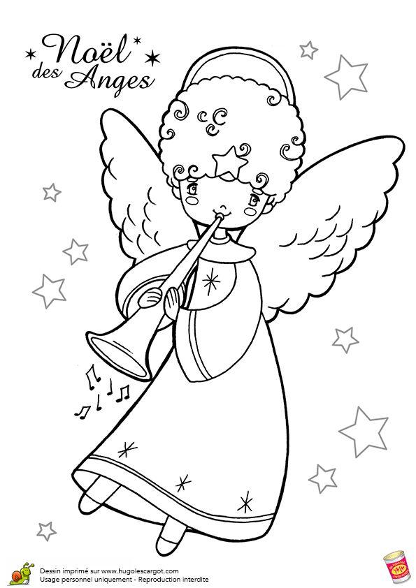 Anges de noel trompette page 12 sur 12 sur coloriage et jeux sur papier - Anges de noel ...