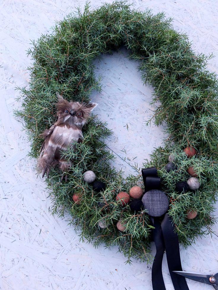 Tøff krans til jul