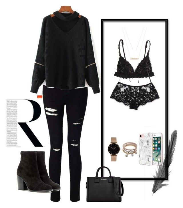 """""""Untitled #16"""" by maria-raniela on Polyvore featuring Miss Selfridge, Hanky Panky, I.D. SARRIERI, Michael Kors, CLUSE, WithChic, Rebecca Minkoff, rag & bone, Ultimate and Karl Lagerfeld"""