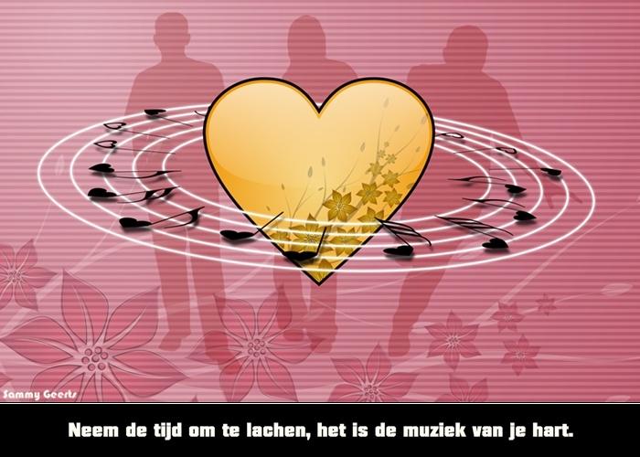 Citaten Muziek : Neem de tijd om te lachen het is muziek van je hart