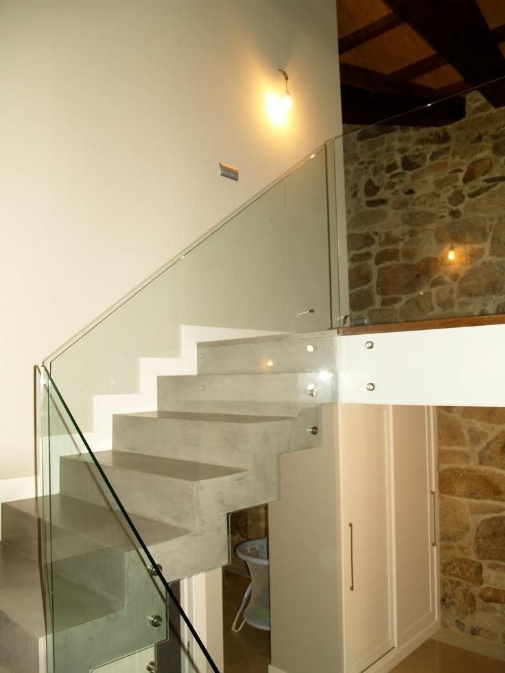 barandillas escaleras vidrio templado locales interiores hogar proyectos barandillas escaleras