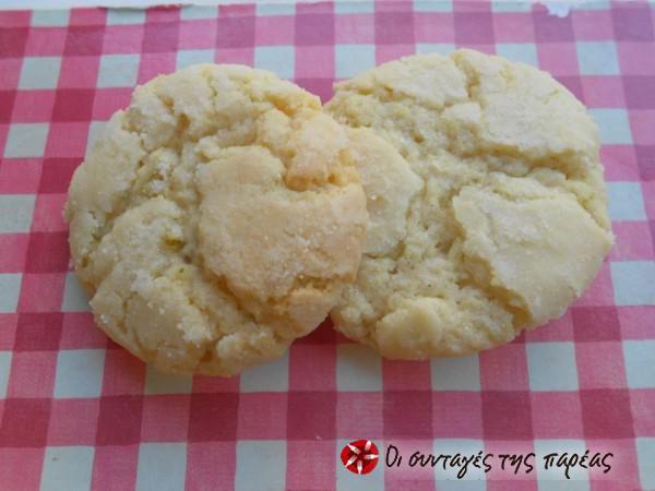 Μαλακά κούκις λεμόνι-soft cookies #sintagespareas