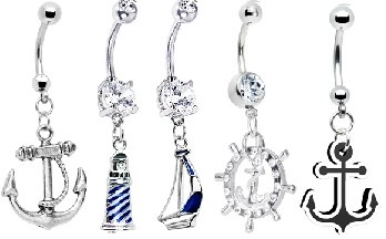 nautical belly button rings All from bodycandy.com