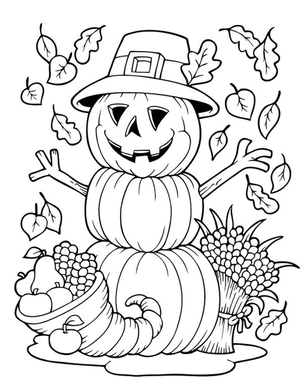 Thanksgiving Colouring Pages For Toddlers Design