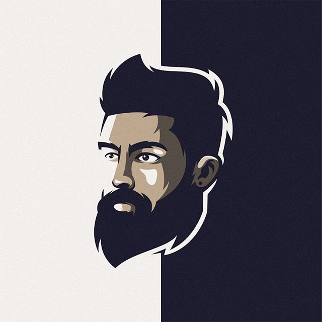 Awesome Beard Logo Inspiration Logoplace Thedesigntalks Vaniladesign Learnlogodesign Logomore Logo Logod Beard Logo Beard Logo Design Beard Illustration