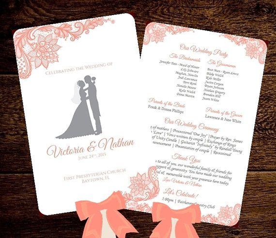 88 best wedding fan programs images on Pinterest Fan programs - baby shower program template