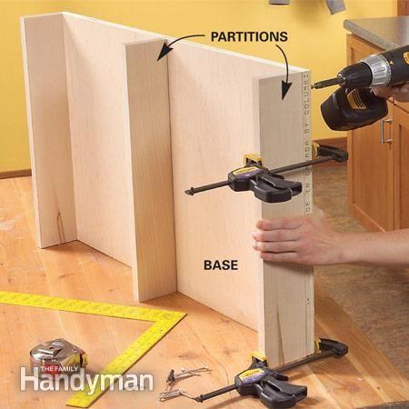How to Build Kitchen Sink Storage Trays. Somebody get me a saw!!