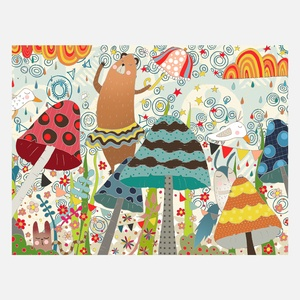 The Dancing Bear Print A4 now featured on Fab.
