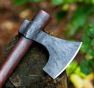BLACKSMITH Bearded Hand Forged Throwing Tomahawk ---- Hammer Poll WAR Axe