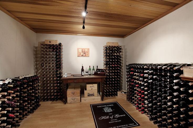 An unusually large custom-designed cellar
