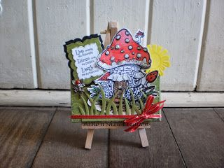 Make it Crafty - Mushroom House Mini Canvas - made by Shell