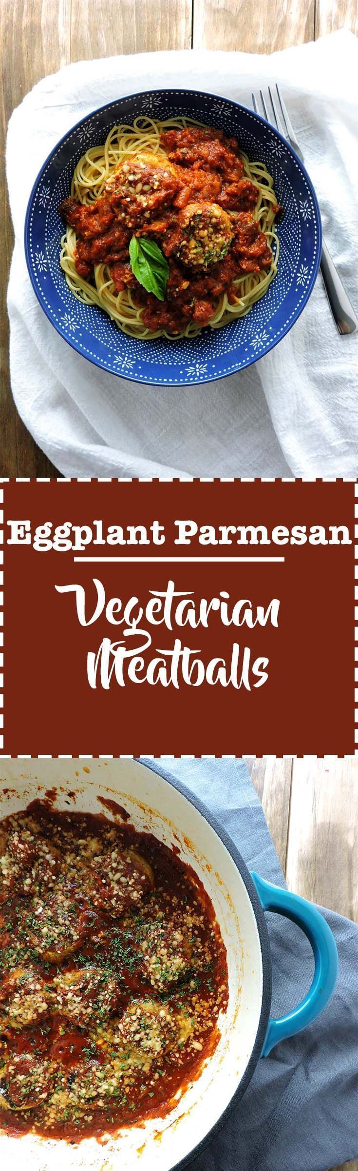 Eggplant Parmesan Meatballs