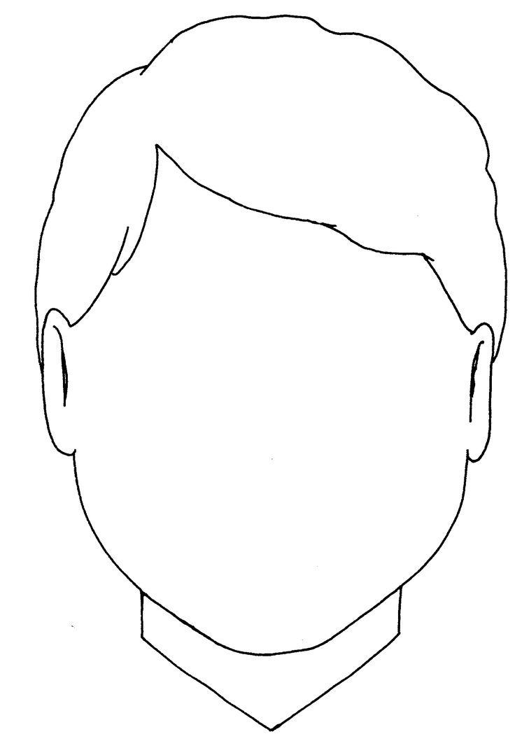 Blank Boy Face Colouring Coloring Pages - Quoteko.