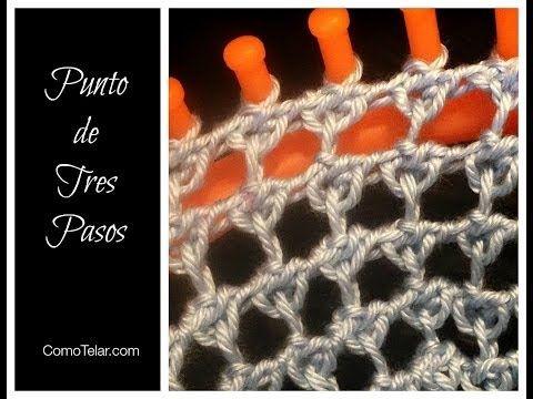 PUNTO de Tres Pasos en Telar Redondo - Three Step Stitch - YouTube