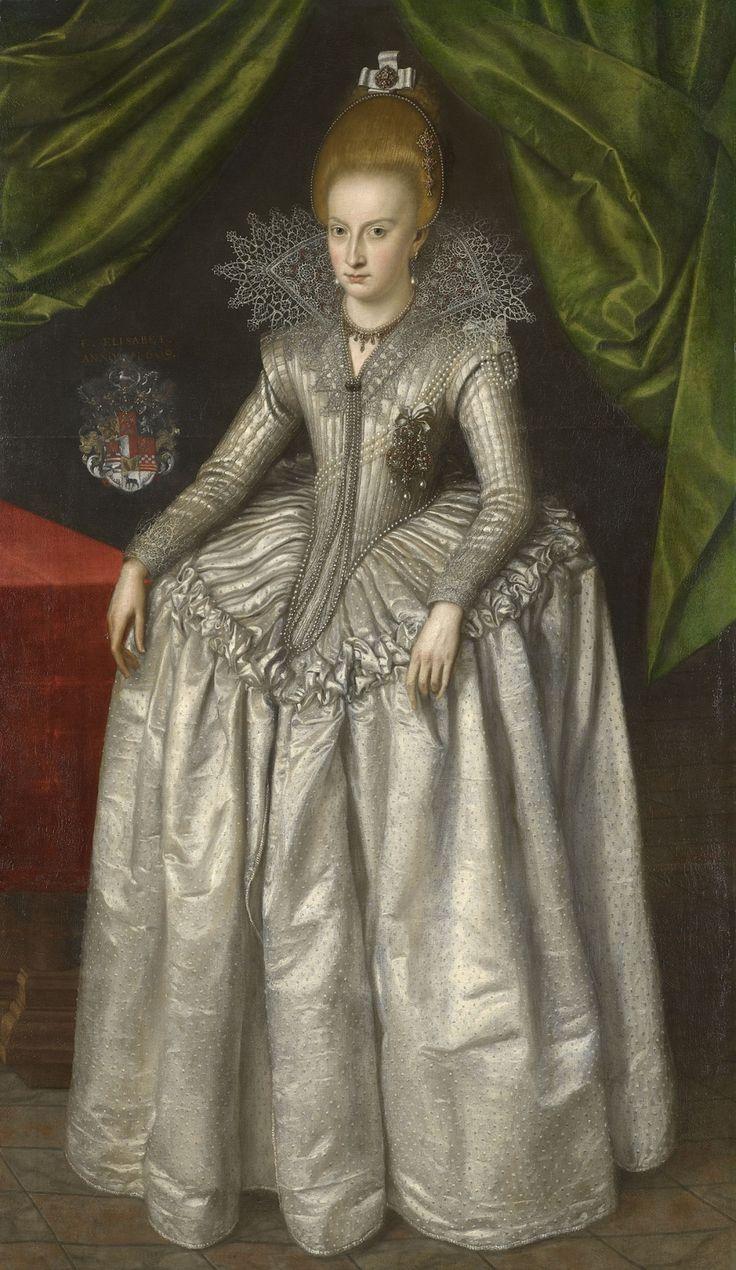 Portrait of Princess Elizabeth of Brunswick-Wolfenbuttel by an unknown artist in 1609 A.D.