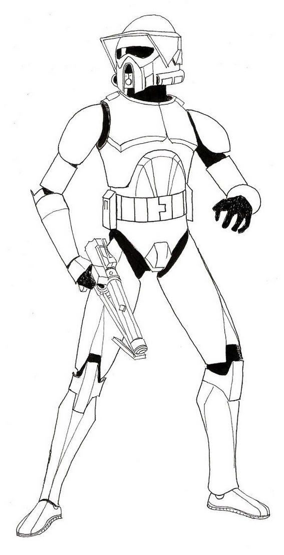 Clone Trooper Armor Coloring Sheets Star Wars Clone Wars Clone