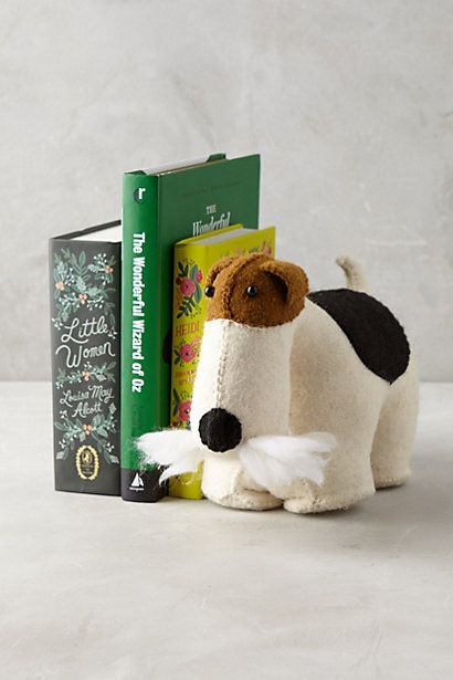 Fox Terrier Bookend  #anthropologie