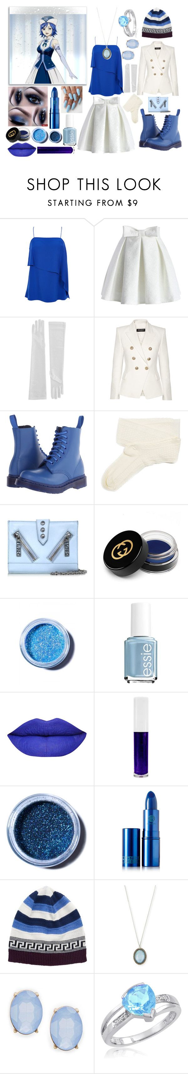 """""""Fairy Tail Juvia / casual outfit"""" by stormtrooper117 ❤ liked on Polyvore featuring Juvia, TIBI, Chicwish, Balmain, Dr. Martens, Fevrie, Kenzo, Gucci, Lime Crime and Essie"""