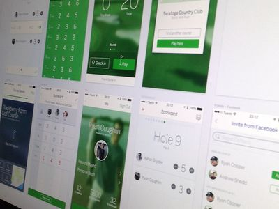 Oh so many screens - Golf App iOS7 Redesign