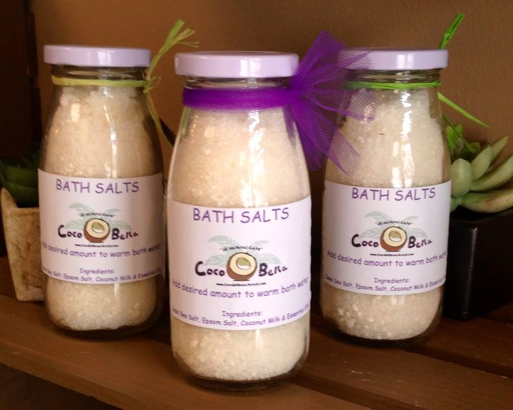 One of my new favorites...bath salts! The scent is amazing & it makes your skin feel awesome.