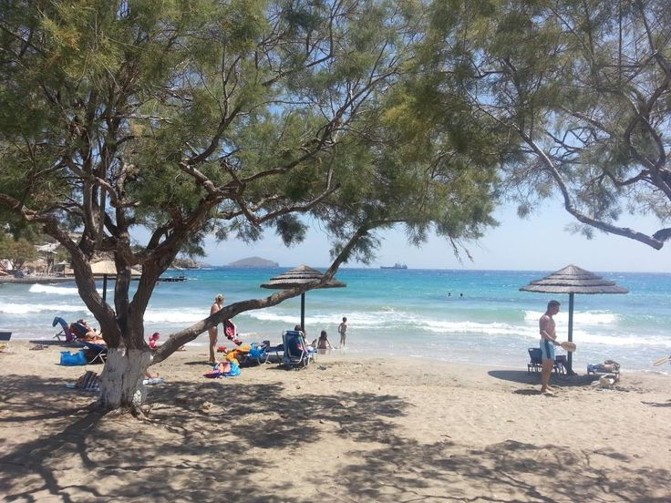 The beach of #Azolimnos, at 4 km of Hermoupols. Opposite to this beach is the course location of the #OMILO Greek Language courses during July, August and September.  http://www.omilo.com/syros/