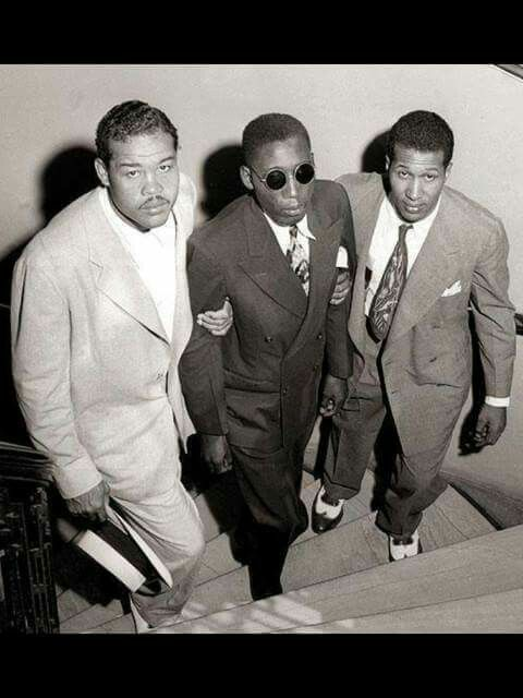 Heavy weight champions --Joe Lewis on left-- Sugar Ray Robinson on right