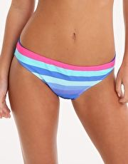 Phax Colour Stripes Hipster Pant - Blue The Phax Essential Colour Stripes Hipster Pant will turn heads as you stroll along the poolside with its multi tonal blue stripes with dashes of hot pink http://www.MightGet.com/january-2017-13/phax-colour-stripes-hipster-pant--blue.asp