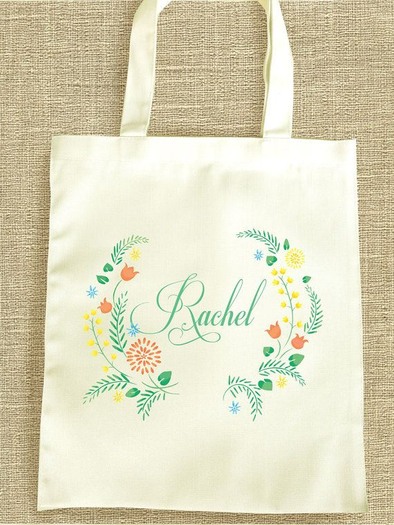 Personalized bridesmaid tote bag