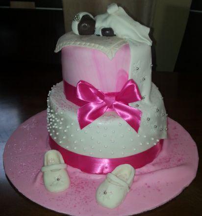 christening girl cake