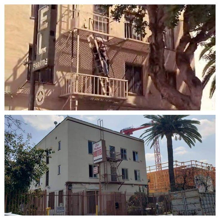 The apartment fire escape from the final scene in PRETTY