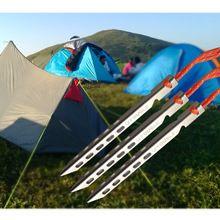 16 cm titanium legering ultralichte hoge sterkte v-vormige haringen outdoor camping apparatuur reizen stake nail accessory13g(China (Mainland))
