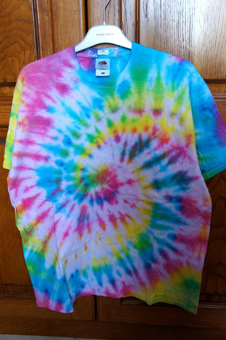 t-shirt tie & dye spirale multicolore : T-Shirt, debardeurs par superpsay