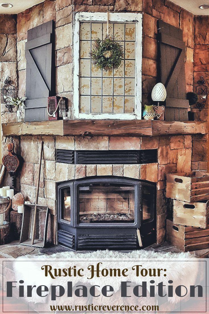 rustic home tour fireplace edition rustic farmhouse living room rh pinterest com