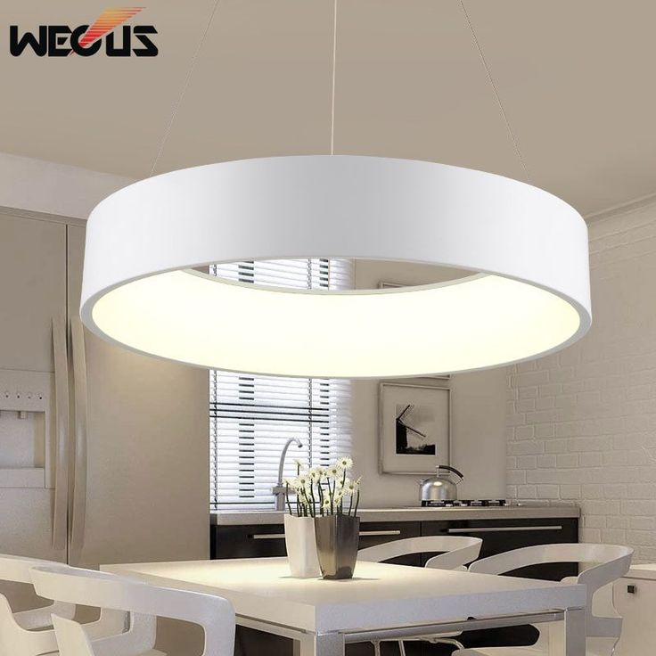 wecus moderne d450mm runde kreis h ngen lampe 85 265 v 28 watt led esszimmer k che anh nger. Black Bedroom Furniture Sets. Home Design Ideas