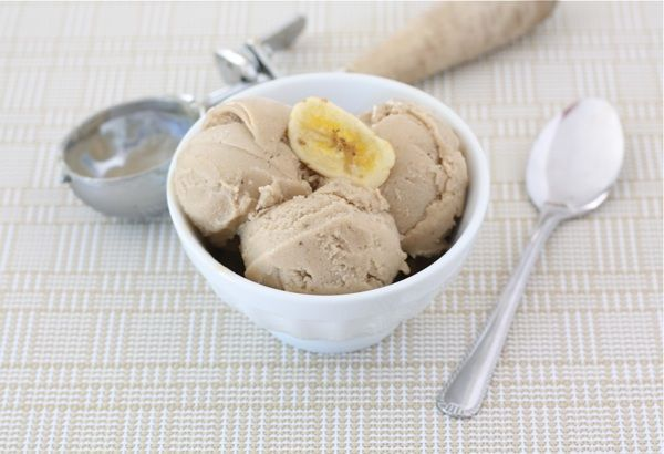 Two ingredient banana peanut butter ice cream
