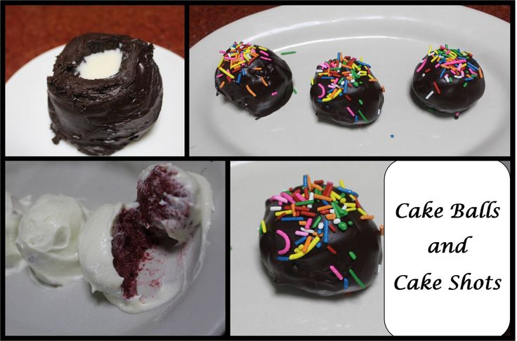 Cake Balls and Cake Shots  How to: https://www.youtube.com/watch?v=xEv2D4x8P9Y&index=1&list=PLKzua_x2TbRxiJqx22pkuie3SjLZrlGbY&hd=1