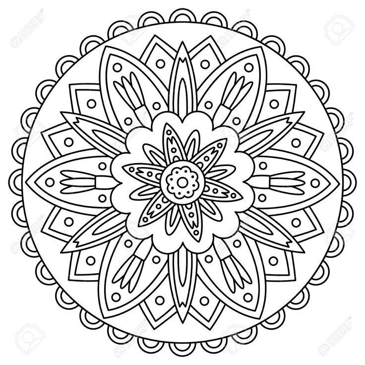 Mandala coloring page vector illustration. , #ad, # ...